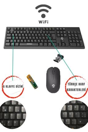 Everest Km-2510 Siyah Kablosuz Q Multimedia Klavye + Mouse Set