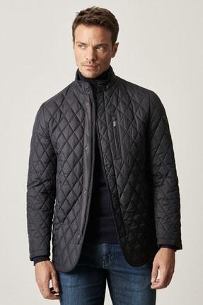 ALTINYILDIZ CLASSICS Erkek Lacivert Standart Fit Soğuk Geçirmez Kışlık Overcoat Mont