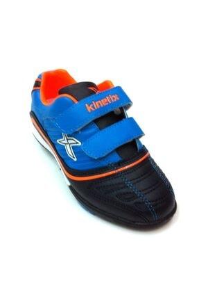 Kinetix 703 Futbol Ayakkabısı Halı Saha Cırtlı Mavi Siyah