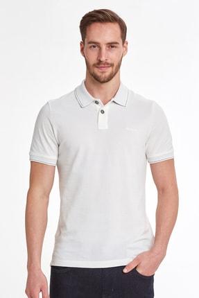 Hemington Vintage Görünümlü Beyaz Polo Yaka T-shirt