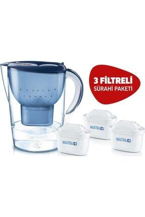 BRITA Marella Xl Su Arıtmalı Sürahi Mavi - 3 Filtreli