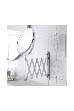BARBUN Frack Büyüteçli Çift Taraflı Ayna Makyaj Traş Tıraş Aynası
