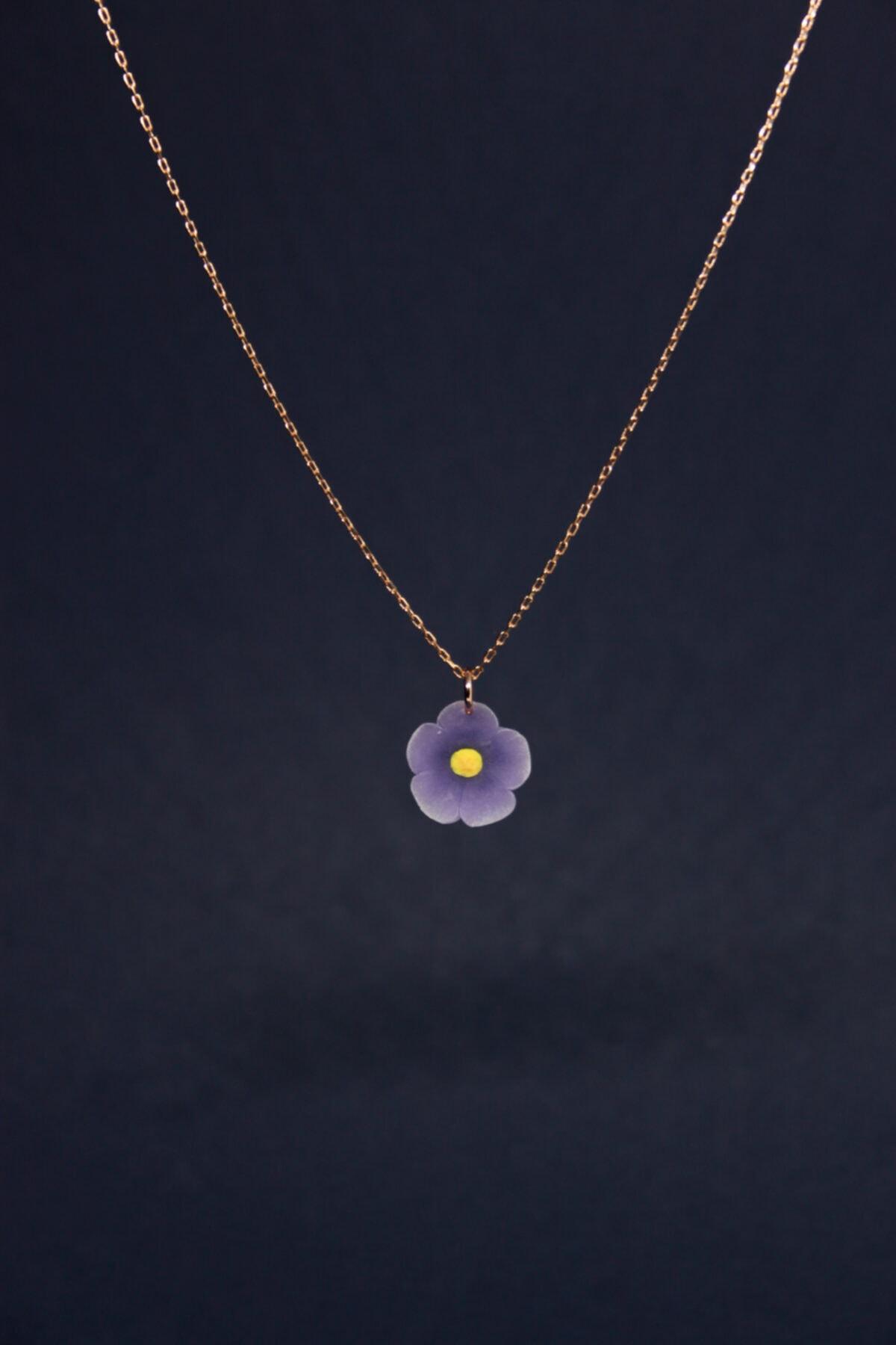 Alegoria Jewellery Leylak Elyapımı 24k Rose Altın Kaplama Gümüş Kolye 1