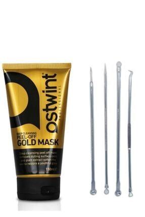 Ostwint Golden Mask Soyulabilir Altın Maske 150 Ml & Akne Siyah Nokta Temizleyici Komedon+lü Set