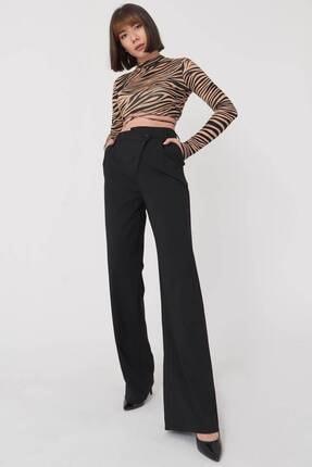 Addax Kadın Siyah Bol Paça Pantolon Pn8103 - W6 Adx-0000023578