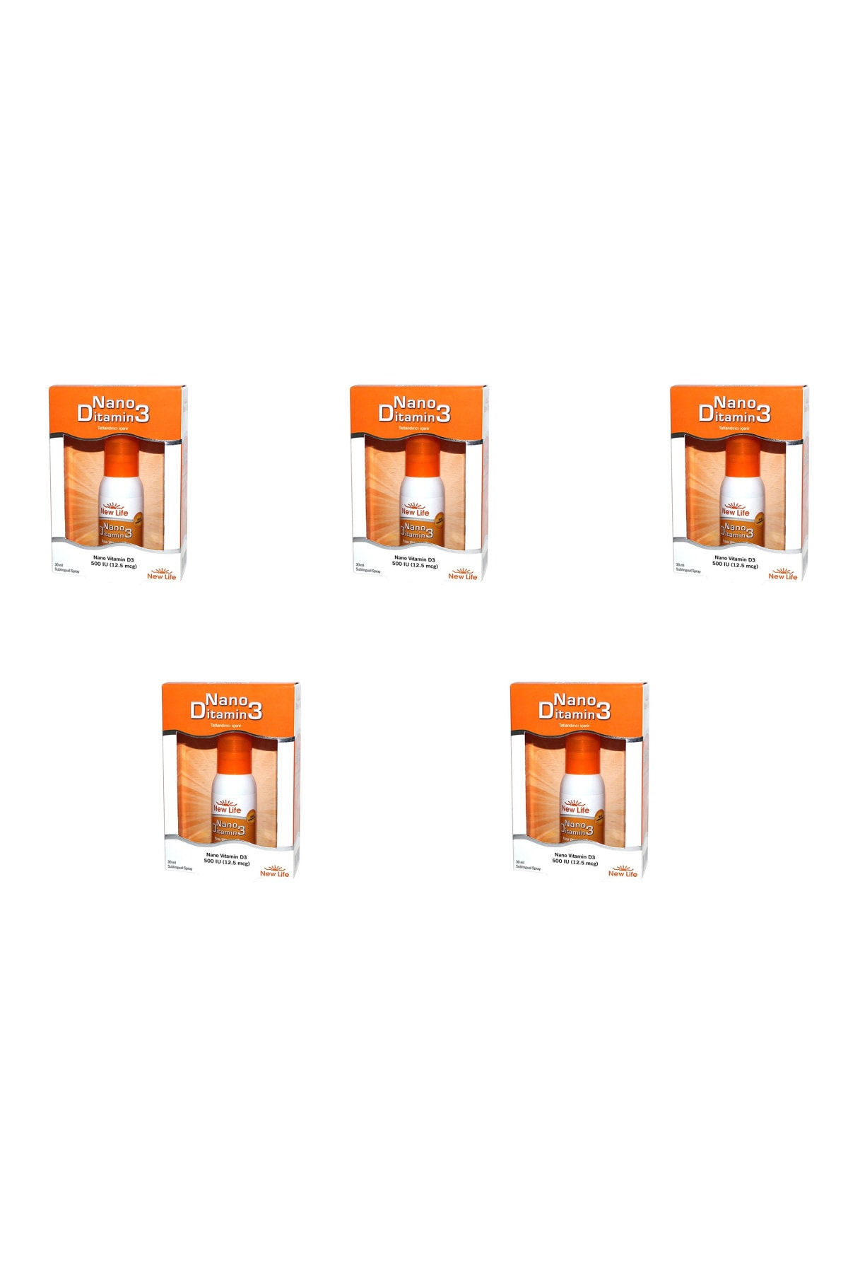 New Life Nano Ditamin D3 D Vitamini 30 Ml 5'li Paket 1