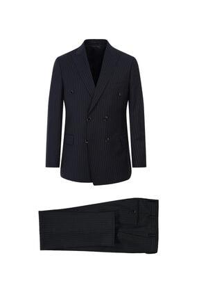Kiğılı Yün Slim Fit Kruvaze Takım Elbise