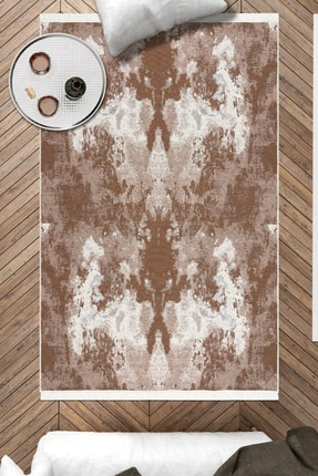 Caretta Home Palet Desenli Kahverengi Dokuma Kilim