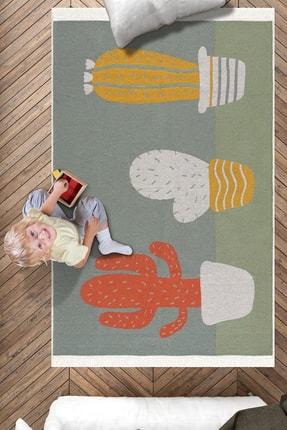 Caretta Home Kaktüs Desenli Çift Taraflı Dokuma