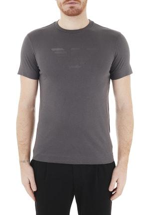 Emporio Armani Erkek Logo Baskılı Bisiklet Yaka % 100 Pamuk T Shirt T Shirt 3k1te6 1jshz 0679