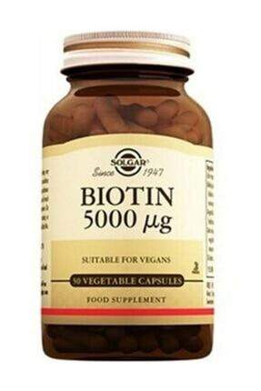 Solgar Biotin 5000 Mg 50 Vegetable Capsules