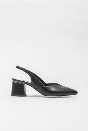 Elle Shoes Siyah Kadın Orta Topuk Ayakkabı