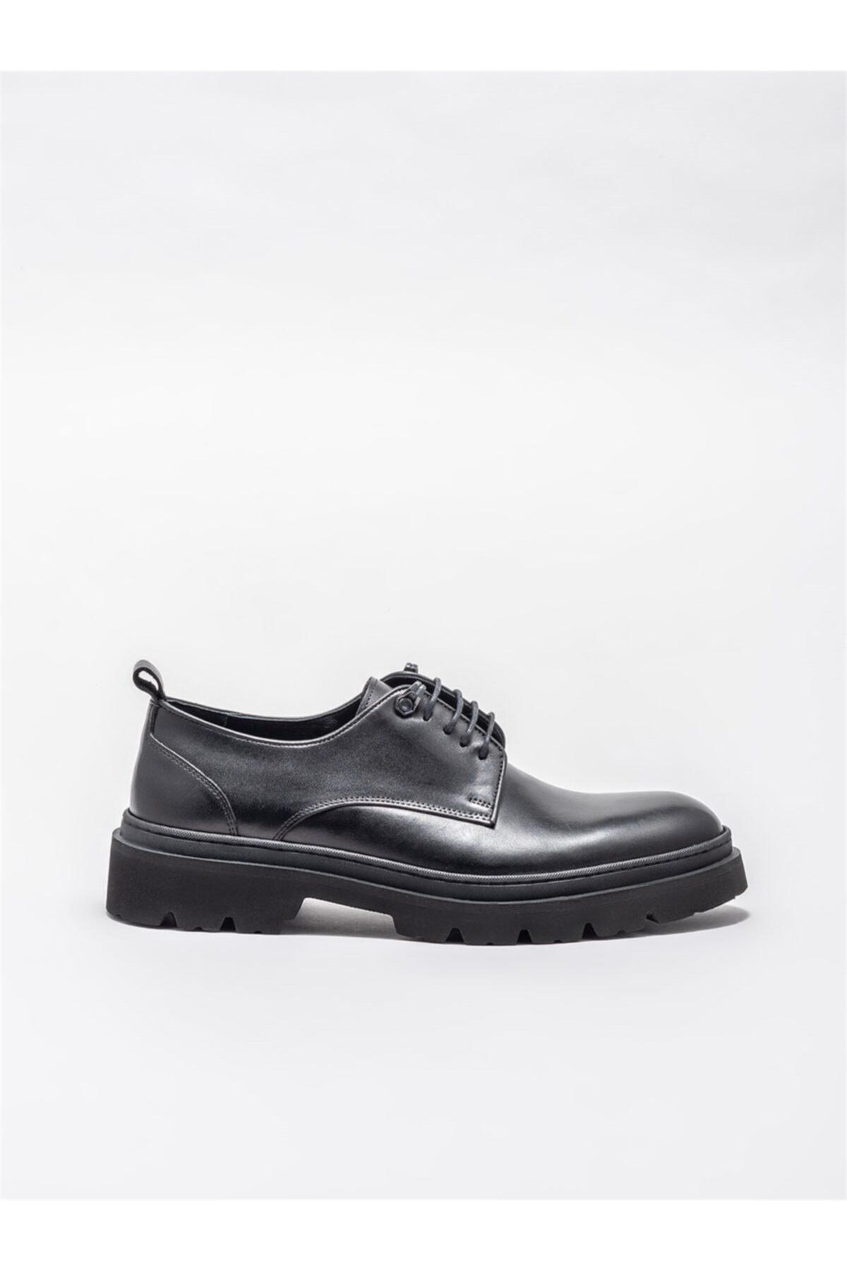 Elle Shoes Siyah Deri Erkek Günlük Ayakkabı 1