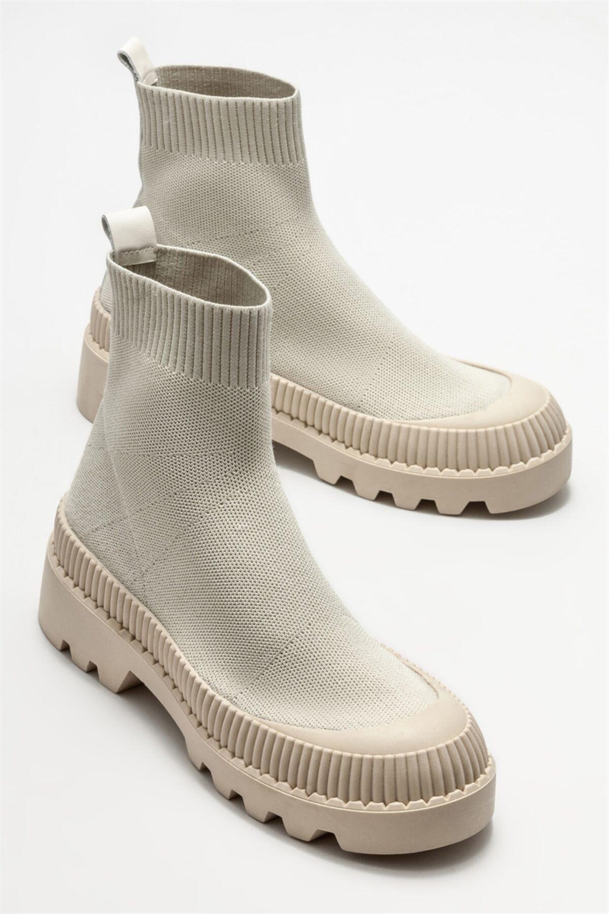Elle Shoes Bej Kadın Spor Bot 2
