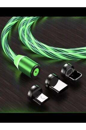Telex Samsung Mikro Usb Full Işıklı Hareketli Manyetik Mıknatıslı Şarj Aleti Sarj Kablosu