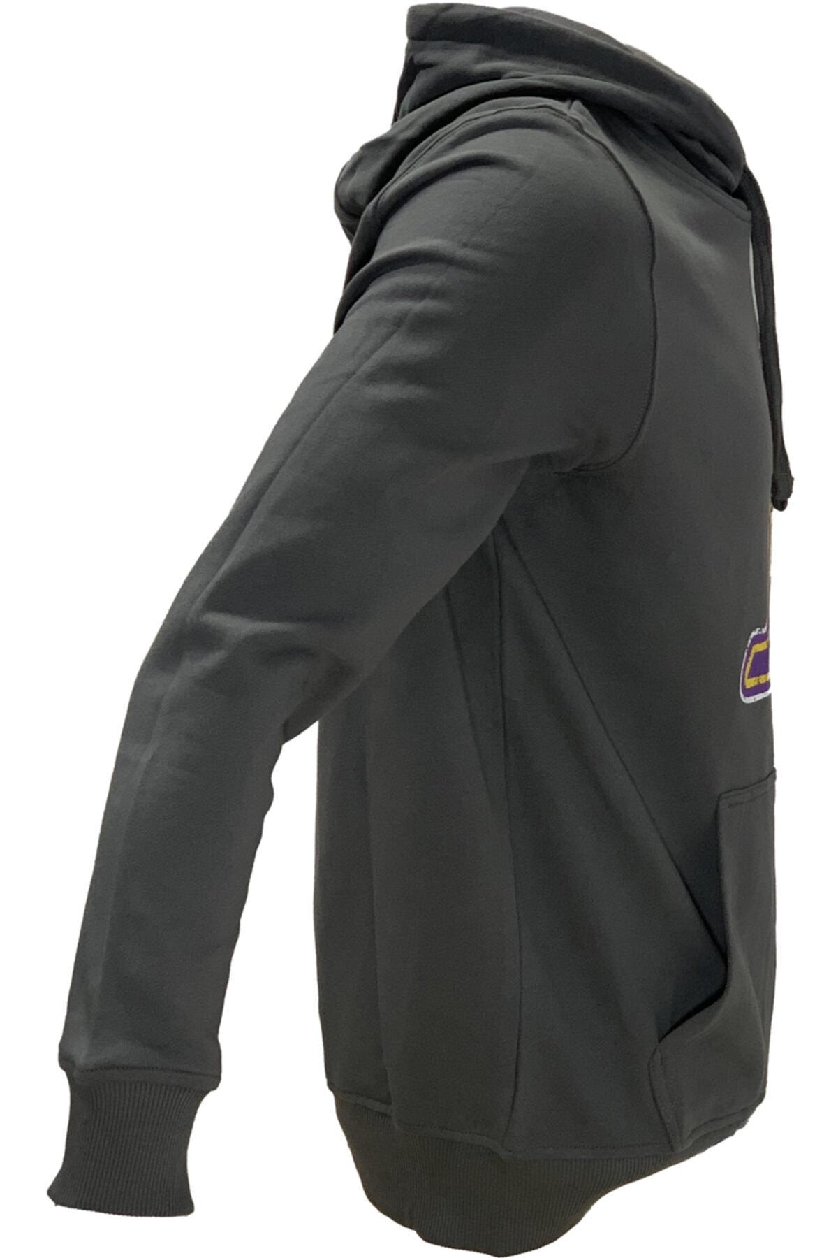 SPORTSACADEMY Unisex Siyah Basketbol Sweatshirt 2