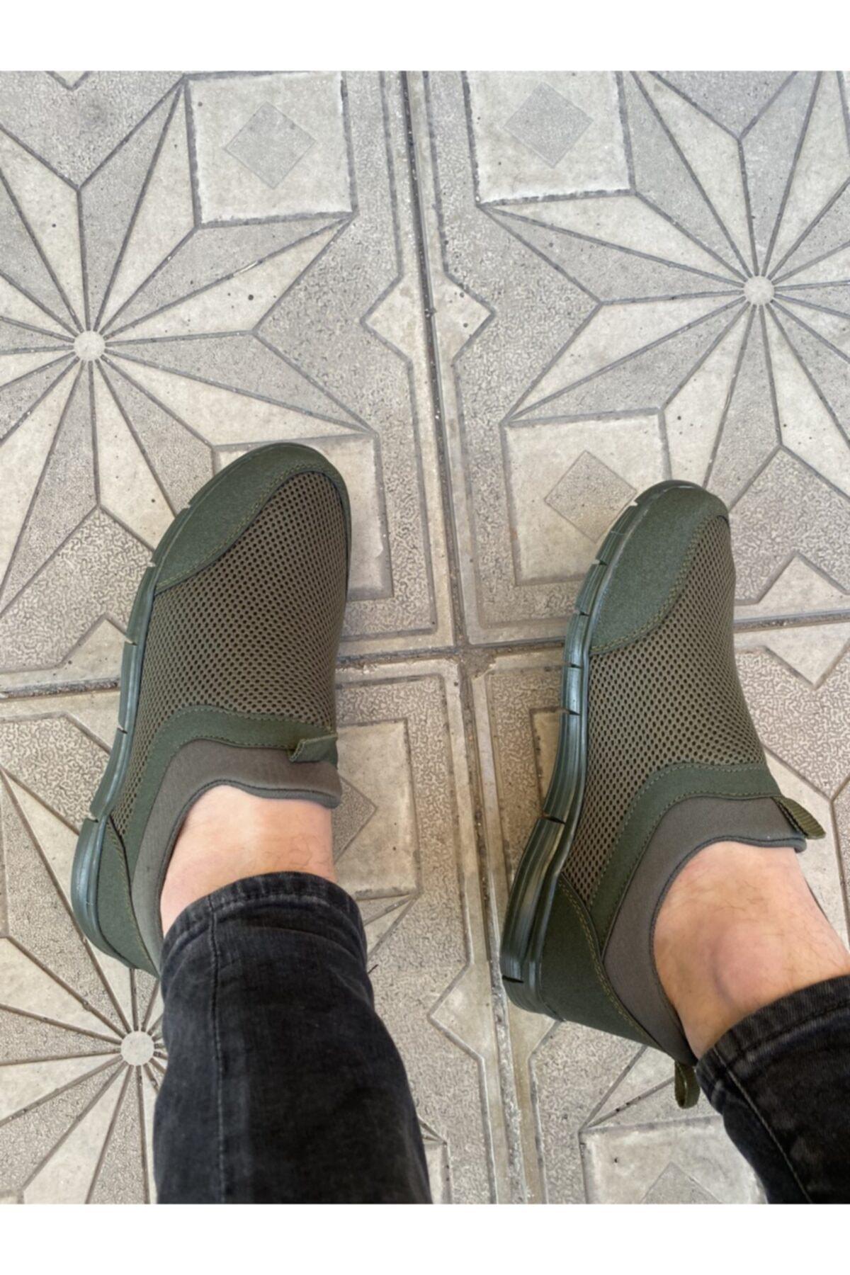 haykmar Yeşil Erkek Ipsiz Spor Yürüş Ayakkabısı 1