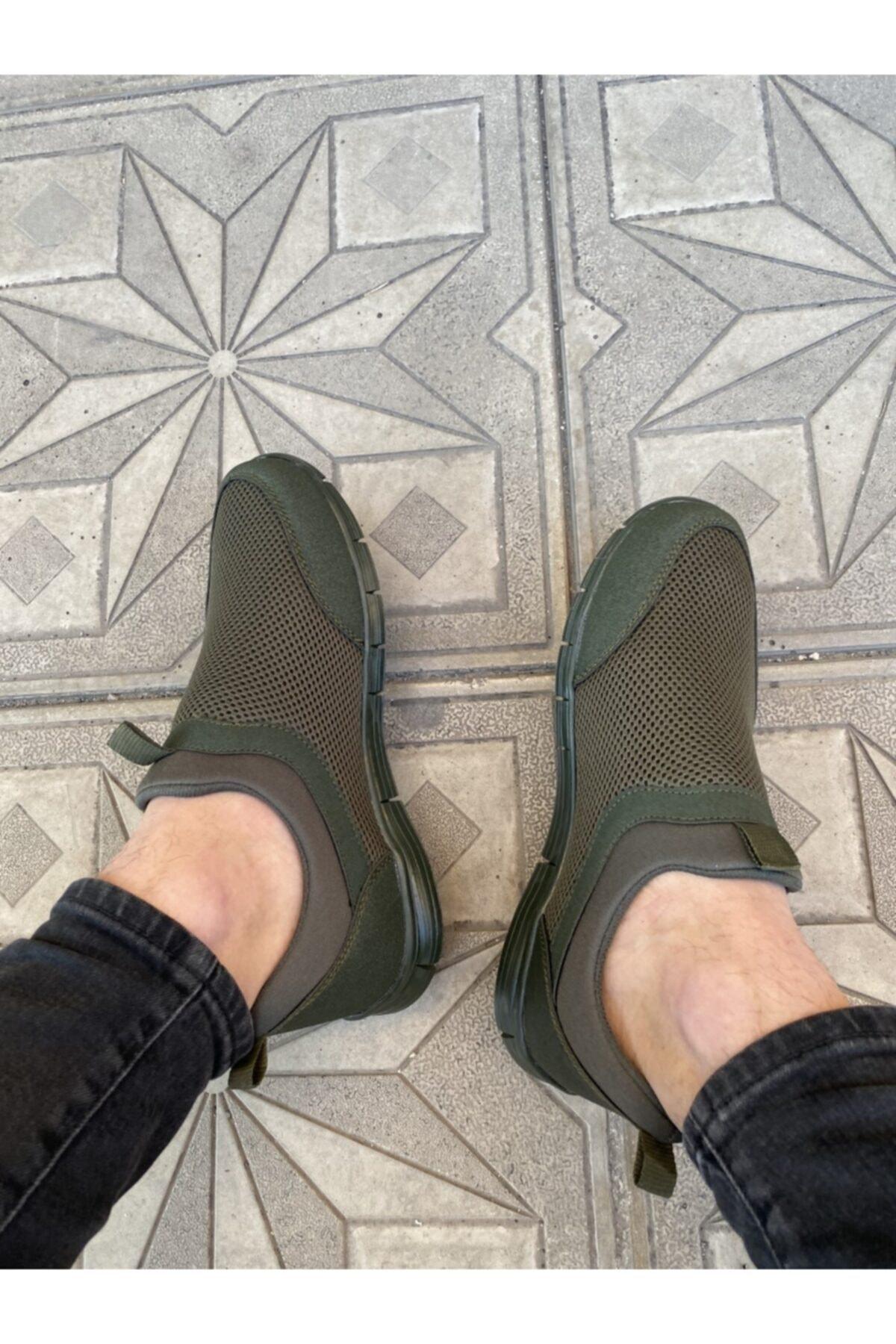 haykmar Yeşil Erkek Ipsiz Spor Yürüş Ayakkabısı 2