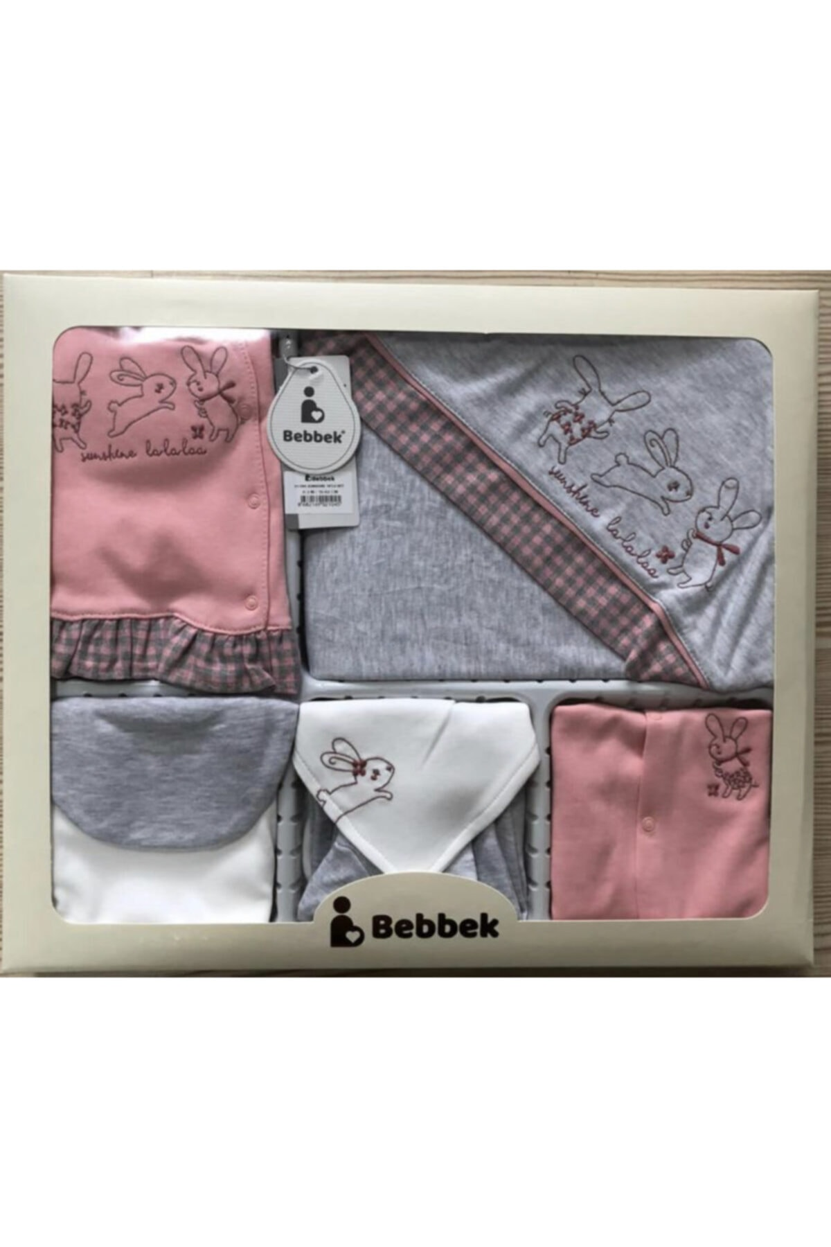 Bebbek Kız Bebek Pembe 10lu Hastane Çıkış Seti 1