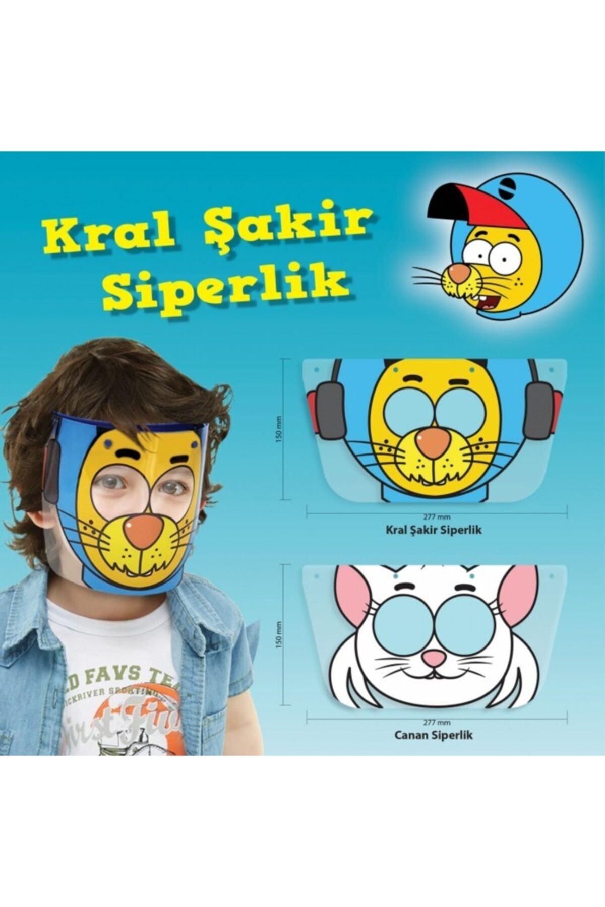 Kral Şakir Çocuk Yüz Koruyucu Siperlik Maske 2