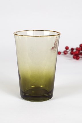 Rakle Gold Iconic 3'lü Su Bardağı Seti Yeşil 290 Cc