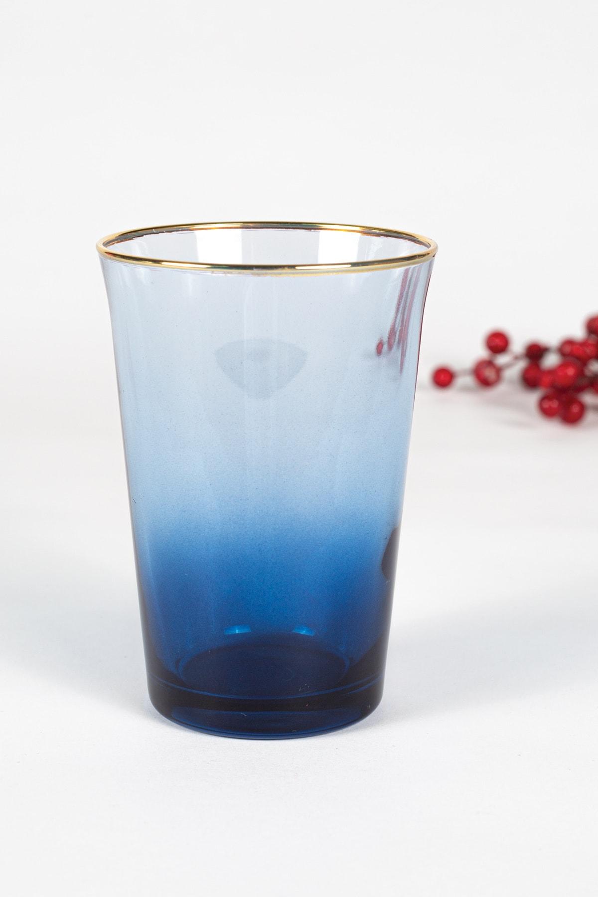 Rakle Mavi Gold Iconic 3'lü Su Bardağı Seti 290 cc 1