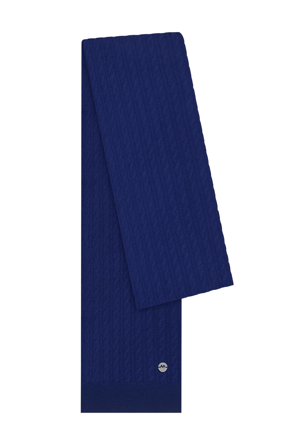 Hemington Erkek Mavi Lambswool Yün  Atkı 1