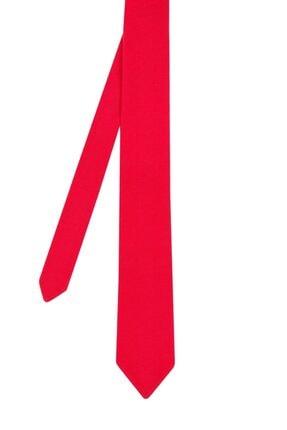 Hemington Erkek Kırmızı Pike Örgü Triko Kravat