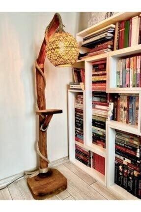 OzdenWoodHome Doğal Ahşap Ağaç Lambader Lambader Aydınlatma min 155 cm