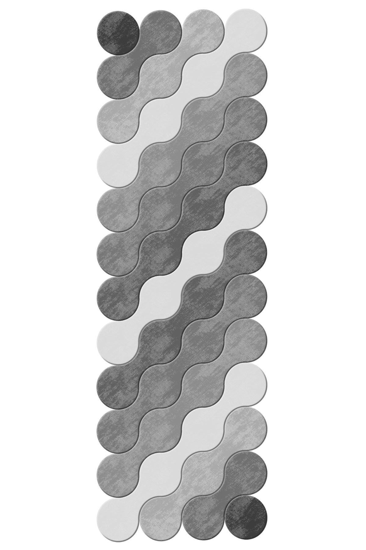 colizon Dekoratif Kaymaz Tabanlı Lazer Kesim Yolluk Halı 2