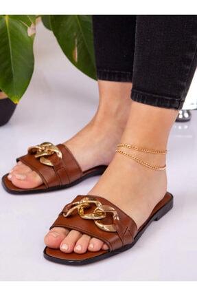 ayakkabıhavuzu Kadın Taba Terlik