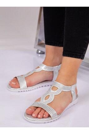 ayakkabıhavuzu Kadın Gümüş Sandalet