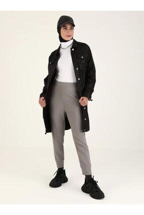 Loreen Kadın Gri Beli Lastikli Pantolon