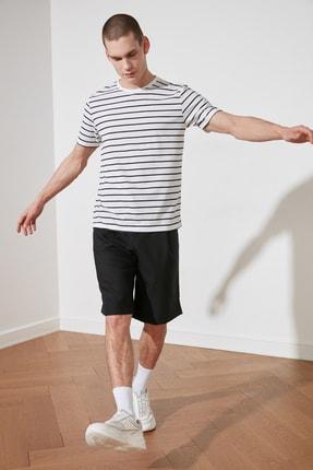 TRENDYOL MAN Beyaz Erkek Slim Fit T-Shirt TMNSS20TS0517