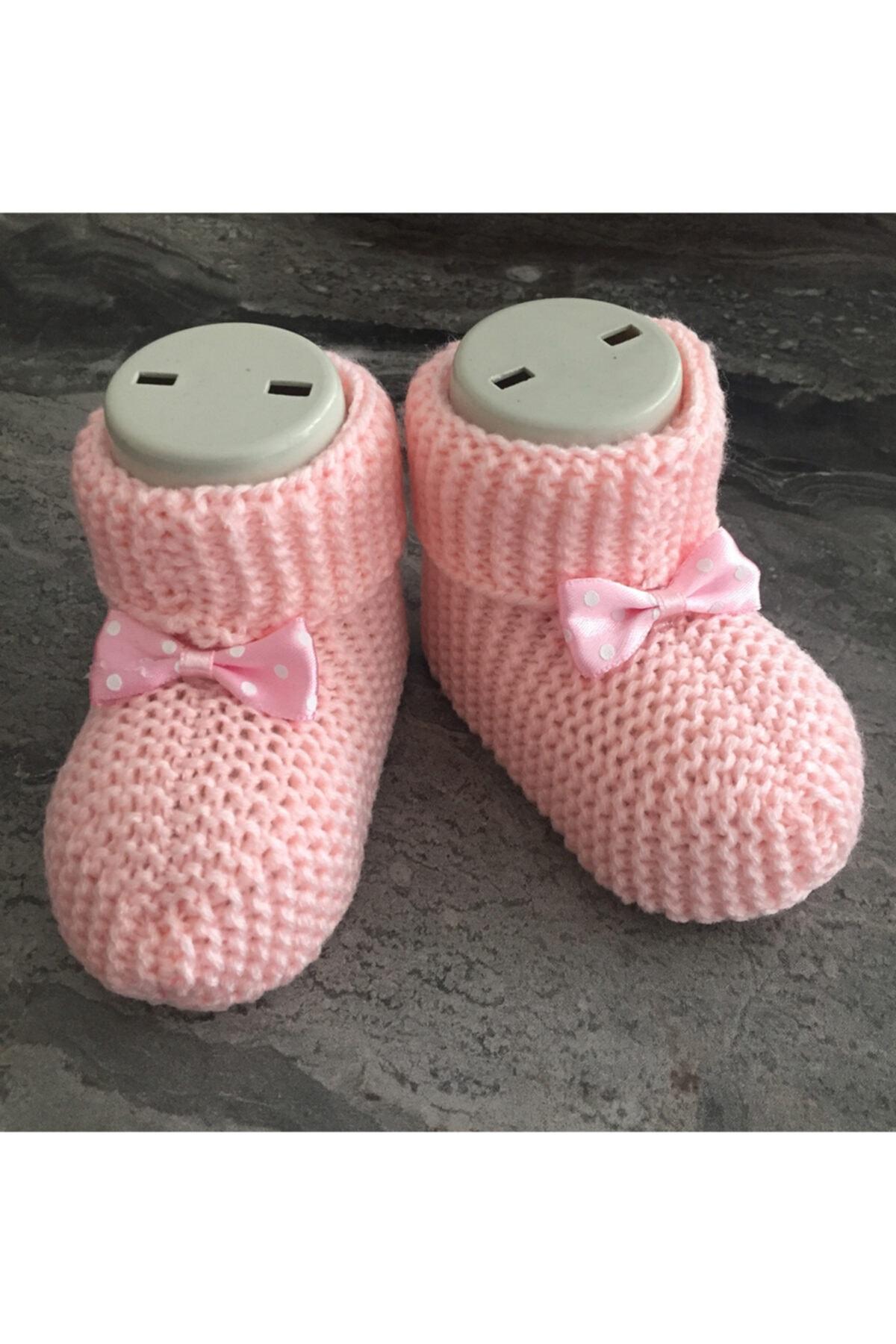 sevgi çerçevesi Unisex Bebek Pembe Patik 2