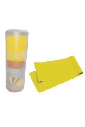 AVESSA Pilates Bandı Orta Sert 140 X 15 cm Egzersiz Direnç Lastiği Sarı