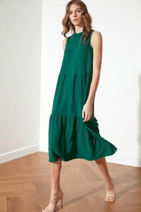 TRENDYOLMİLLA Zümrüt Yeşili Geniş Kesim Elbise TWOSS20EL1864