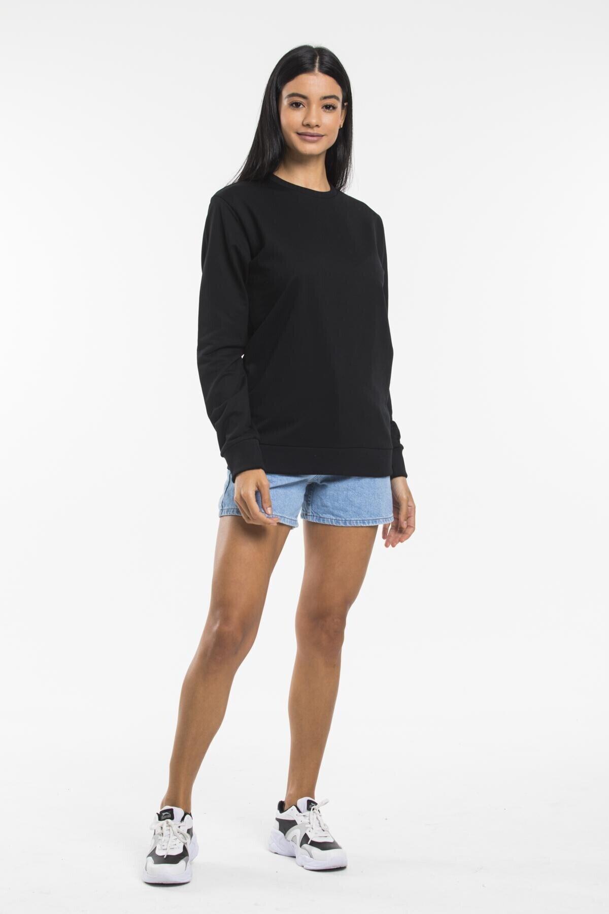 Superlife Kadın Bisiklet Yaka Sweatshirt 1