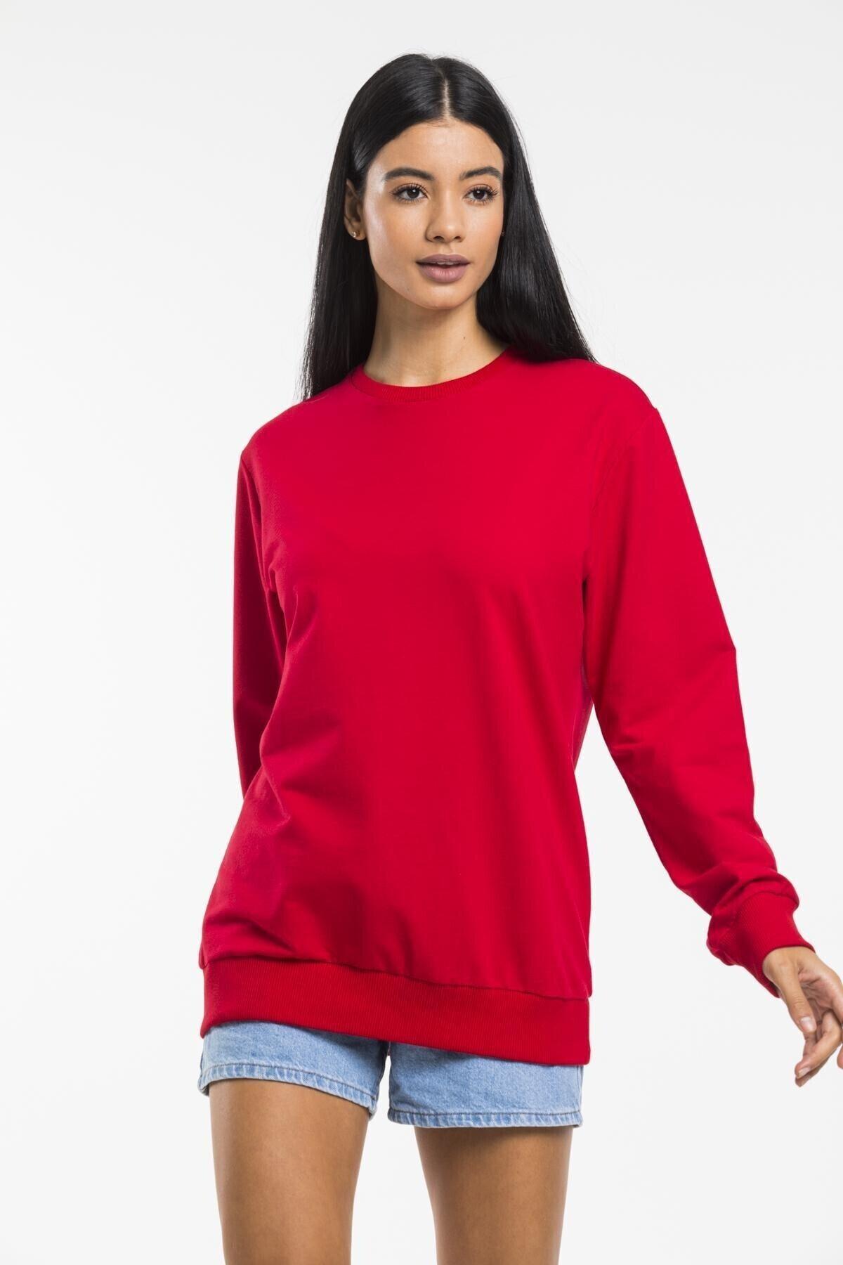 Superlife Kadın Bisiklet Yaka Sweatshirt 2