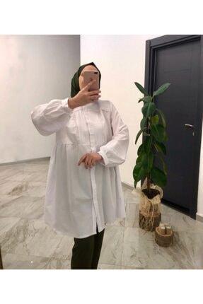 lamelif store Bayan Beyaz Gömlek