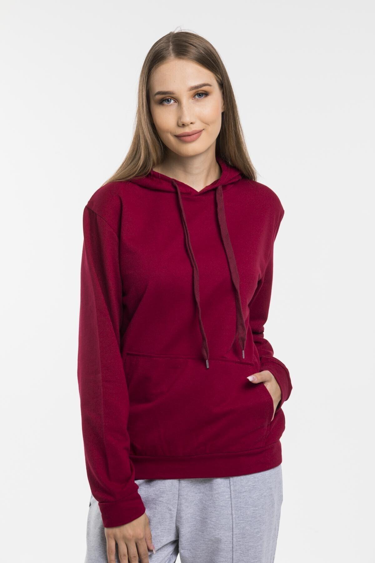 Superlife Kadın Kapş. Kanguru Cepli Sweatshirt 1