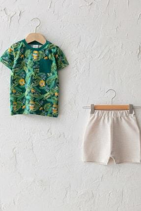 LC Waikiki Erkek Bebek Yeşil Baskılı Lrr Alt-Üst Takım
