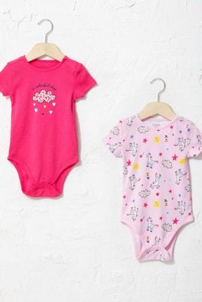 LC Waikiki Kız Bebek Koyu Pembe Krx Bebek Body & Zıbın