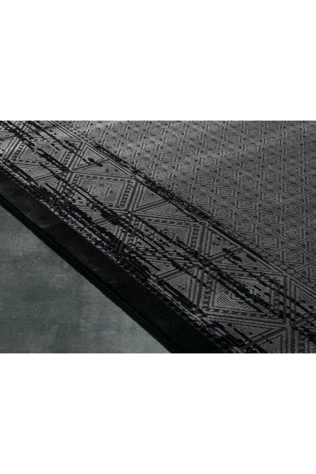 GÜMÜŞSUYU Black&brown 11322 - Siyah Halı 2