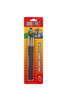 Brons 145 Serisi Sulu Boya Fırçası 3 Lü Set No: 4-8-12
