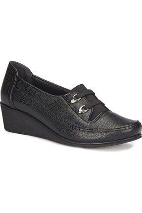 Polaris Kadın Sşyah Dolgu Topuk  Ayakkabı