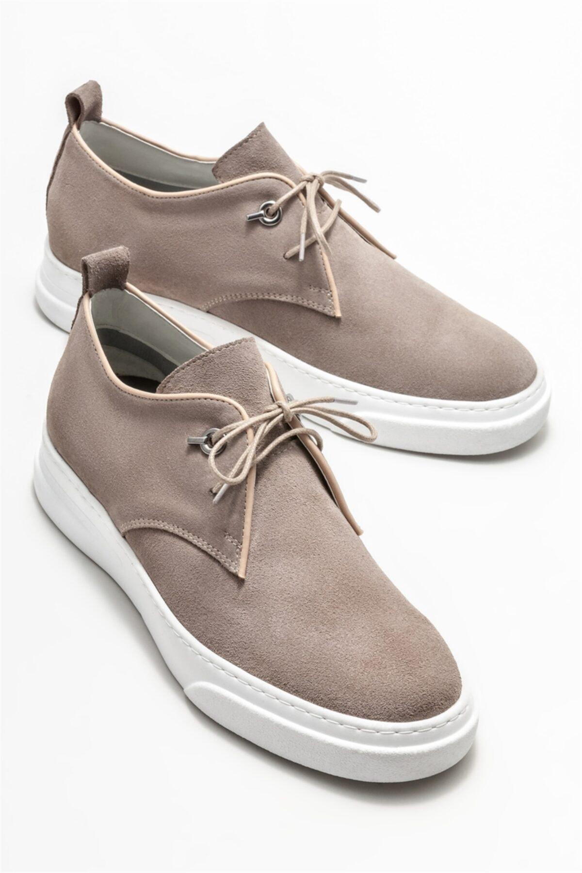 Elle Shoes Bej Deri Erkek Günlük Ayakkabı 2