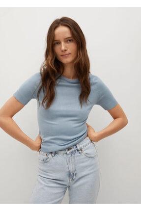 MANGO Woman Kadın Mavi Bluz