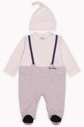 Pierre Cardin Baby Pierre Cardin Erkek Bebek Şapkalı Tulum Gri