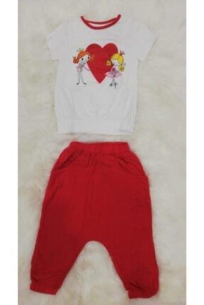 Wonder Kıds Wonder Kids 130628 Kız Çocuk Şalvarlı Kapri Yazlık Pijama Takımı